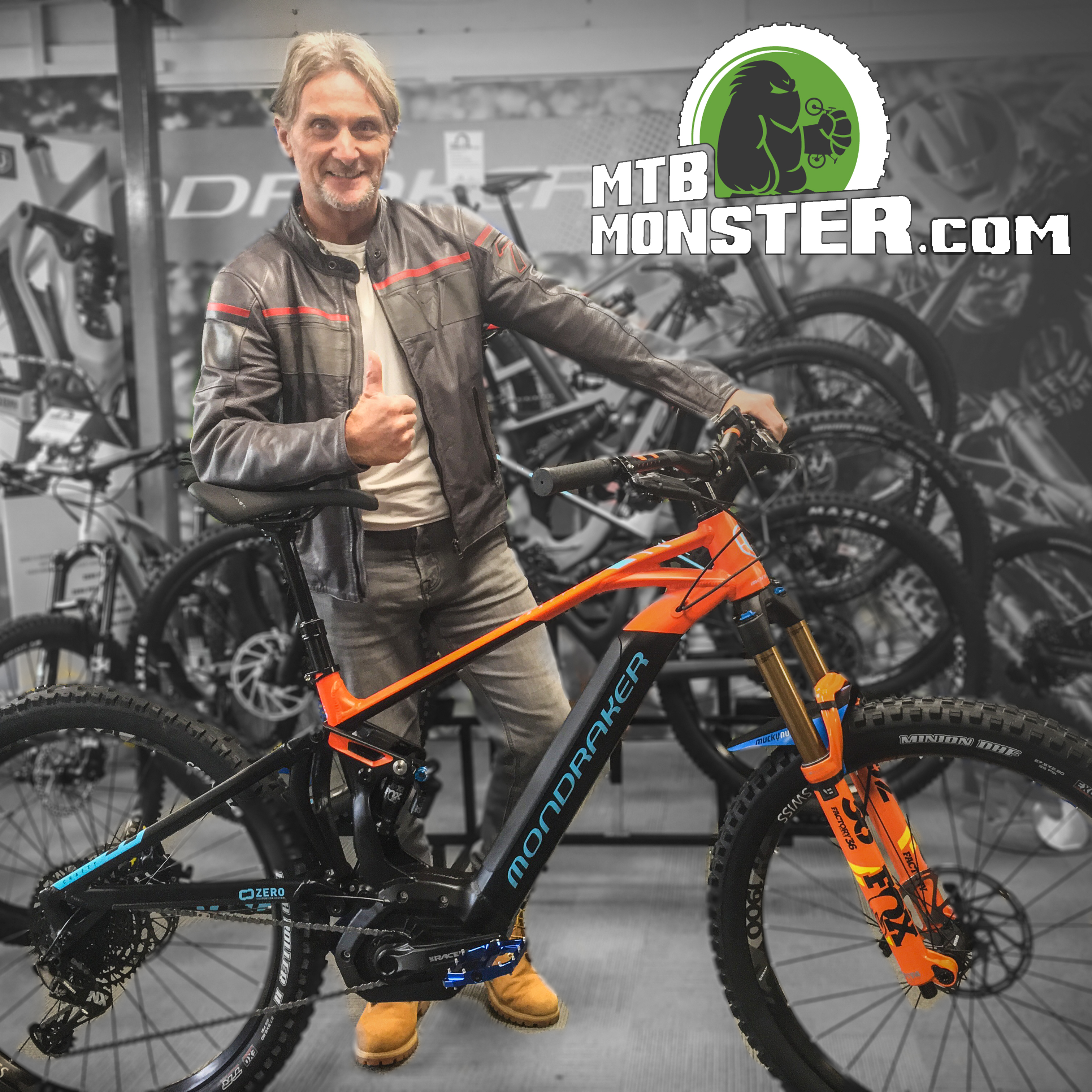 Carl Fogarty collects his Mondraker Crafty RR 2019 656815515