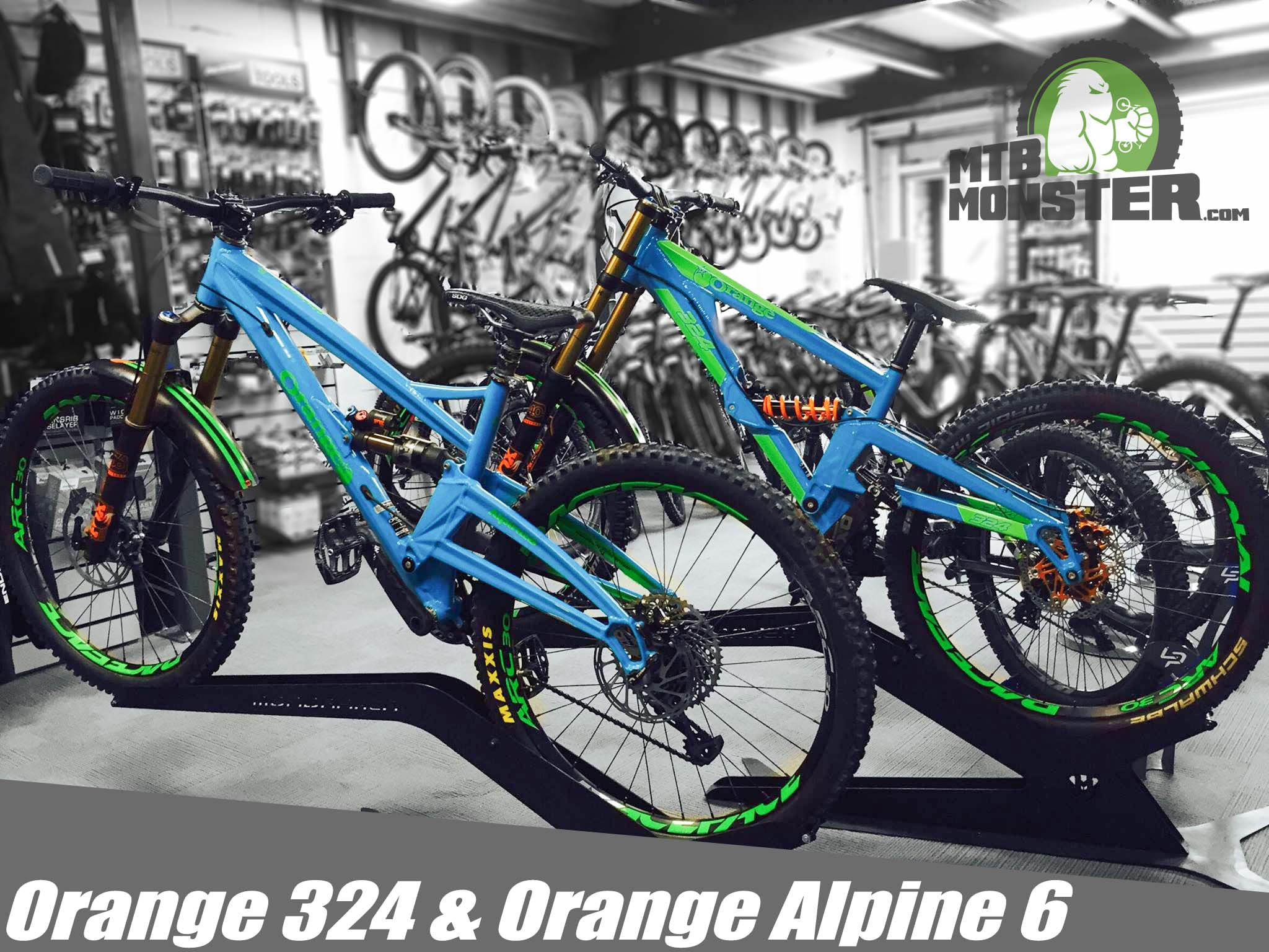 Orange 324 and Orange Alpine 6 Custom Builds